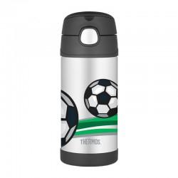 Thermos FUNtainer 0,355l dětská termoska s brčkem - fotbal
