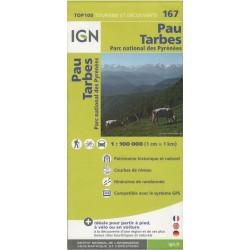 167 Pau, Tarbes 1:100 000