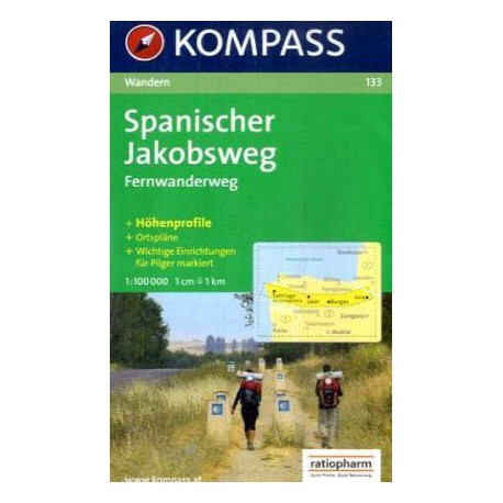 133 Spanischer Jakobsweg 1:100 000