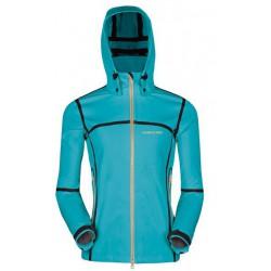 Husky Xavea modrá dámská softshellová bunda Extend-Plus Softshell 10000