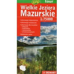 DEMART Wielkie Jeziora Mazurskie/Velká Mazurská jezera 1:75 000