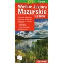 DEMART Wielkie Jeziora Mazurskie/Velká Mazurská jezera 1:75 000 turistická mapa