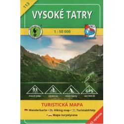 VKÚ 113 Vysoké Tatry 1:50 000 turistická mapa