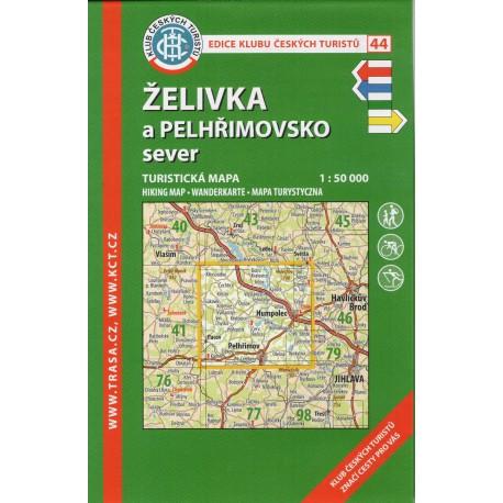 KČT 44 Želivka a Pelhřimovsko sever 1:50 000
