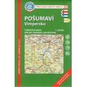 KČT 69 Pošumaví - Vimpersko 1:50 000 turistická mapa