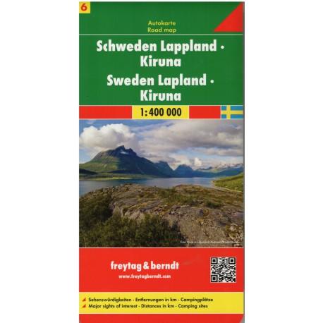 Freytag Švédsko Laponsko 1:400 000