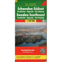 Freytag & Berndt Švédsko 3 - jihovýchod 1:250 000 automapa