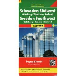 Freytag Švédsko jihozápad 1:250 000