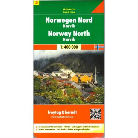 Freytag Norsko Sever 1:400 000