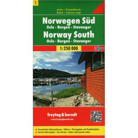 Freytag Norsko jih 1:250 000