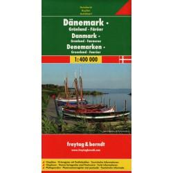 Freytag a Berndt Dánsko, Grónsko, Faerské ostrovy 1:400 000 automapa