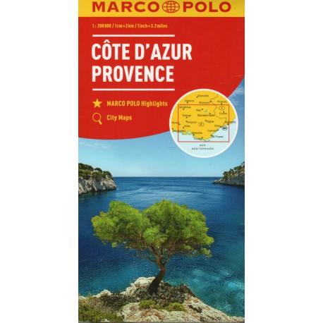 Marco Polo Azurové pobřeží, Provence 1:200 000
