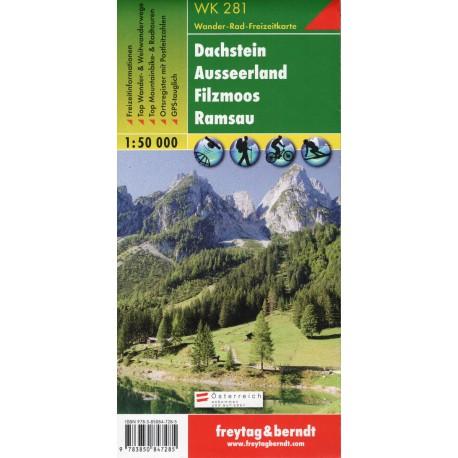 Freytag a Berndt WK 281 Dachstein, Ausseer Land, Filzmoos, Ramsau 1:50 000