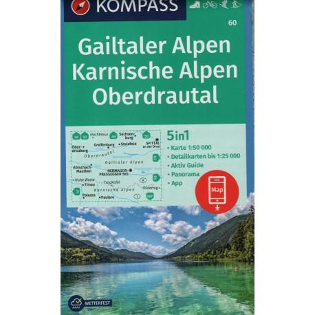 60 Gailtaler Alpen, Karnische Alpen, Oberdrautal  1:50 000