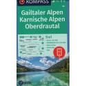 Kompass 60 Gailtaler Alpen, Karnische Alpen, Oberdrautal  1:50 000 turistická mapa