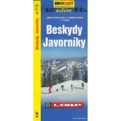 Shocart Beskydy, Javorníky lyžařská mapa 1:75 000