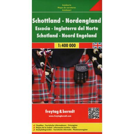 Freytag Skotsko, Severní Anglie 1:400 000