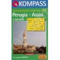 Kompass 663 Perugia, Assisi 1:50 000 turistická mapa