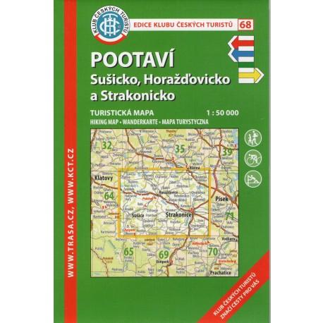 KČT 68 Pootaví, Sušicko, Horažďovicko a Strakonicko 1:50 000