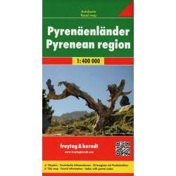 Freytag a Berndt Pyreneje 1:400 000 automapa