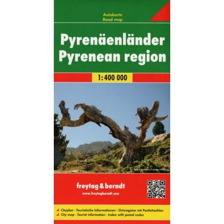Freytag & Berndt Pyreneje 1:400 000 automapa