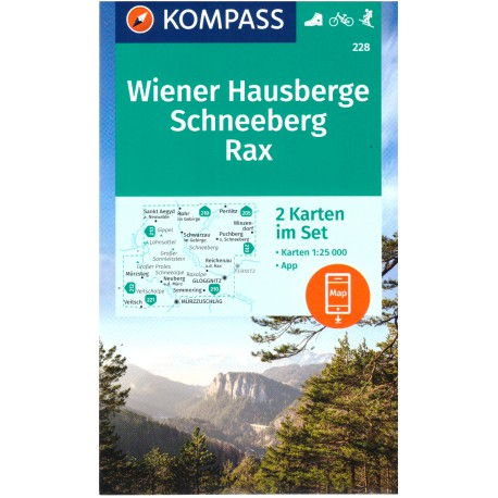 Kompass 228 Wiener Hausberge, Schneeberg, Rax 1:25 000