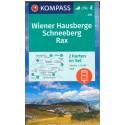 Kompass 228 Wiener Hausberge, Schneeberg, Rax 1:25 000 turistická mapa