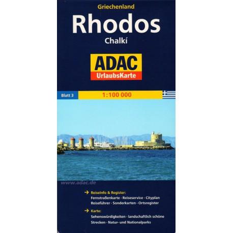 ADAC Rhodos, Chalkí 1:100 000 automapa