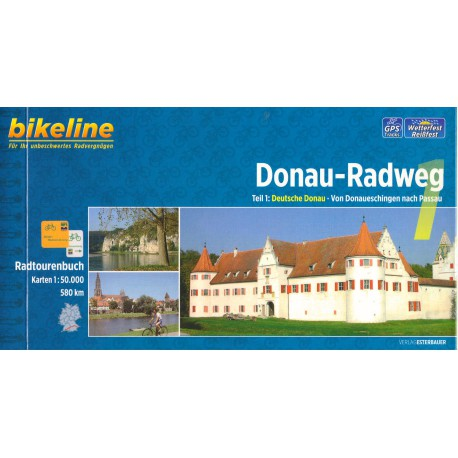 Bikeline Dunajská cyklostezka 1 (Donau-Radweg) 1:50 000 cykloprůvodce