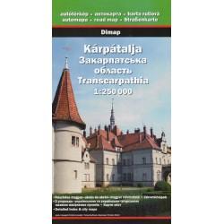 DIMAP Kárpátalja/Zakarpatská oblast 1:250 000 automapa