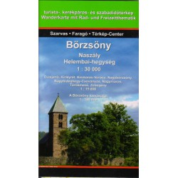 DIMAP Börzsöny/Beržeň, Naszály, Helembai-hegység 1:30 000 turistická mapa