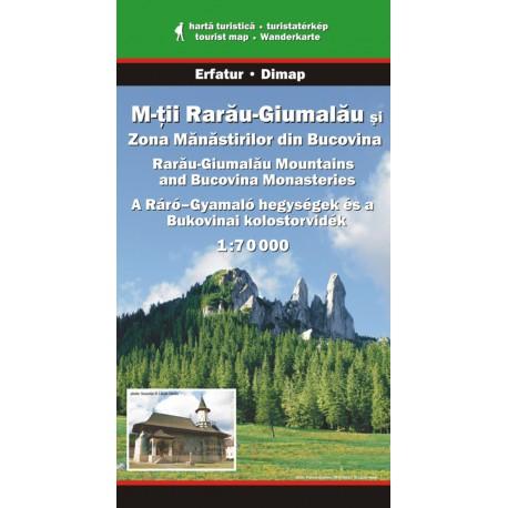 Dimap Muntii Rarau - Giumalau, Bukovina 1:70 000