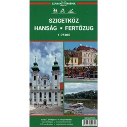 DIMAP Szigetköz, Hanság, Fertőzug 1:75 000 turistická mapa