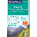 Kompass 042 Inneres Ötztal, Pitztal, Gurgler Tal, Venter Tal 1:25 000 turistická mapa