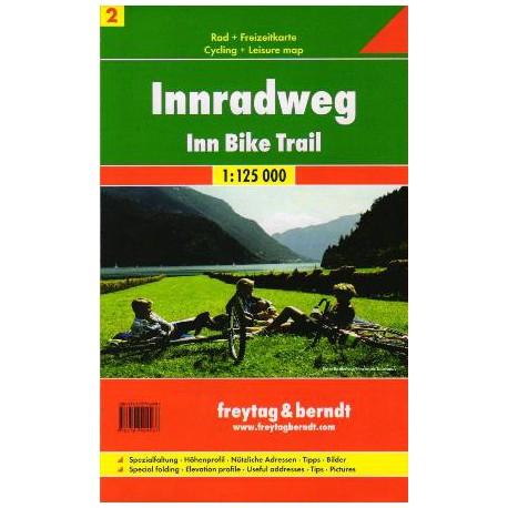 Freytag & Berndt Innská cyklostezka (Inn-Radweg) 1:125 000