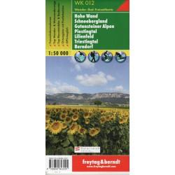 Freytag a Berndt WK 012 Hohe Wand, Schneebergland, Gutensteiner 1:50 000 turistická mapa