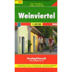 Freytag a Berndt 103 Weinviertel 1:100 000 cykloturistická mapa