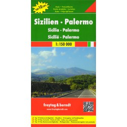 Freytag a Berndt Sicílie, Palermo 1:150 000 automapa