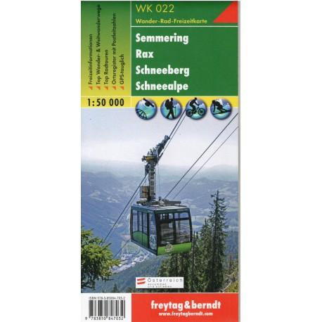 Freytag & Berndt WK 022 Semmering, Rax, Schneeberg, Schneealpe 1:50 000