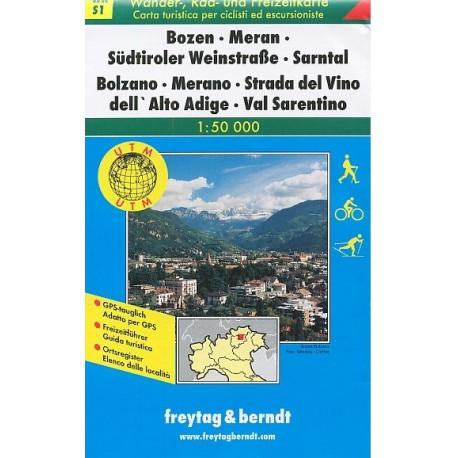Freytag & Berndt WK S1 Bolzano, Merano, Val Sarentino 1:50 000