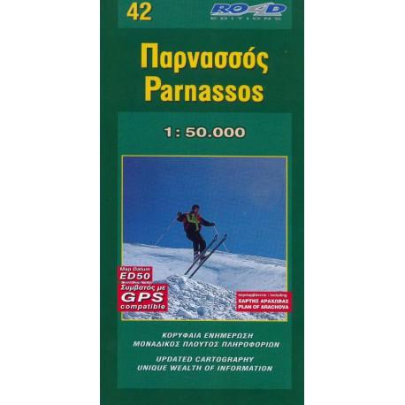 ORAMA 42 Parnassos 1:50 000 turistická mapa