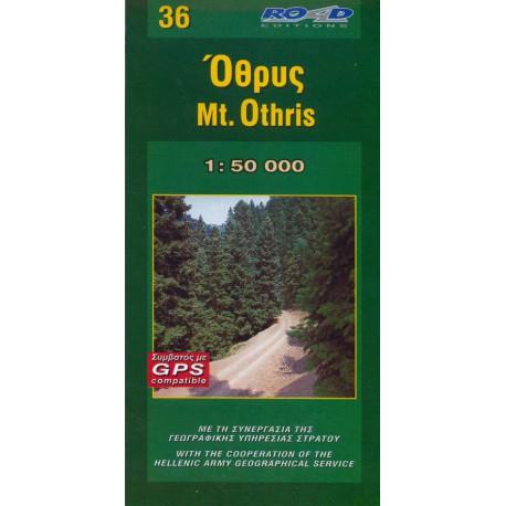 ORAMA 36 Mt. Othris 1:50 000 turistická mapa