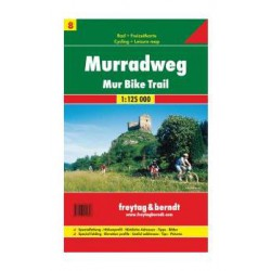 Freytag & Berndt Murská cyklostezka (Mur-Radweg) 1:125 000