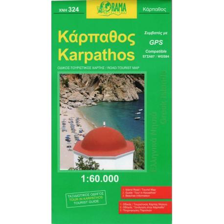 ORAMA 324 Karpathos 1:60 000 turistická mapa