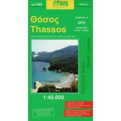ORAMA 345 Thassos 1:45 000 turistická mapa