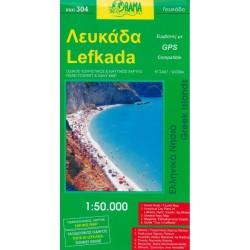 ORAMA 304 Lefkada 1:50 000 turistická mapa