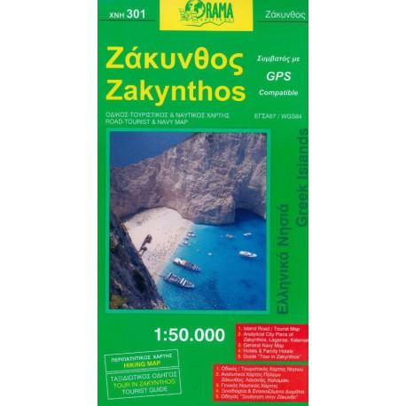 ORAMA 301 Zakynthos 1:50 000 turistická mapa