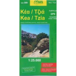 309 Kea, Tzia 1:25 000