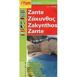 ORAMA Zakynthos 1:50 000 turistická mapa