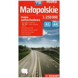 DEMART Województwo Małopolskie/Malopolské vojvodství 1:250 000 automapa